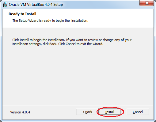 Інсталяція VirtualBox: готовність до початку інсталяції