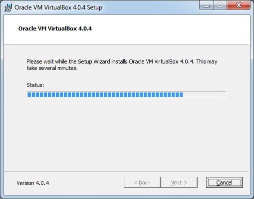 Інсталяція VirtualBox: процес інсталяції