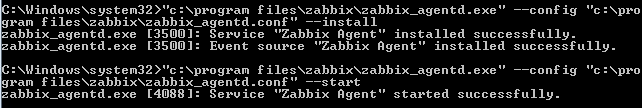 Встановлення та запуск сервіса заббікс-агента на ОС Windows