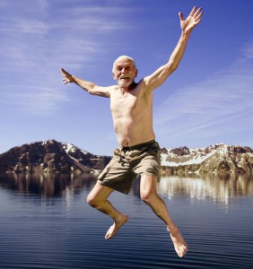 Старий стрибає